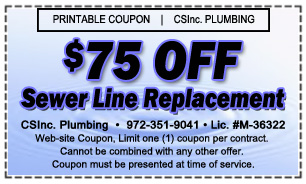 $75 Off Sewer Line Replacement